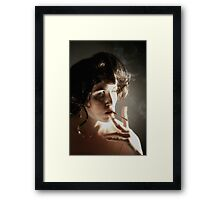 up in smoke #6 Framed Print
