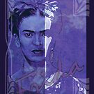 FRIDA Kahlo - between worlds - blue by ARTito