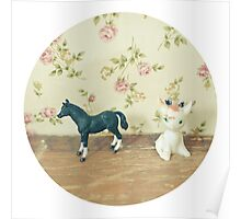 The Horse and Fawn Poster