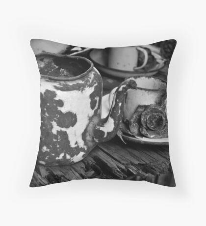 Battered Tea Throw Pillow