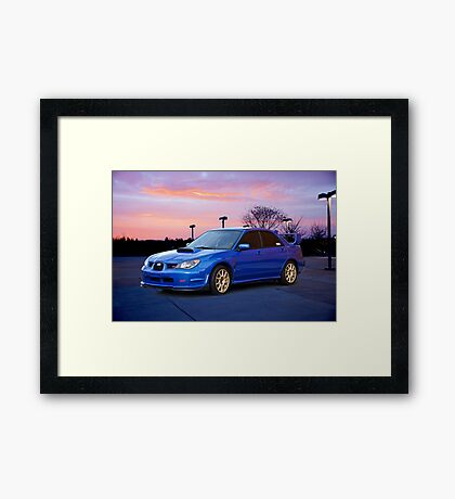 2007 Subaru STi Sports Sedan Framed Print