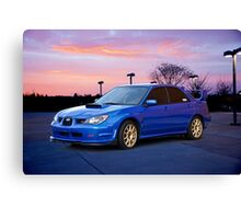 2007 Subaru STi Sports Sedan Canvas Print
