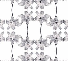 white flower pattern by Tyrlouth