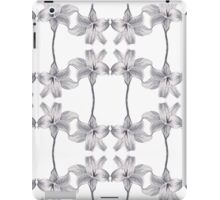 white flower pattern iPad Case/Skin