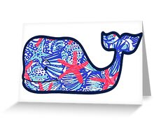 Lily Pulitzer Vineyard Vines Whale Greeting Card