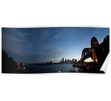 Panorama Of Sydney Harbour Poster