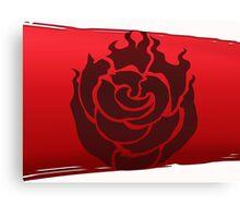 RWBY-Cresant Rose- Ruby Rose-Emblem Canvas Print