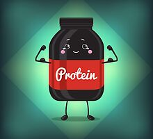 Cute Jar Sport Nutrition, Protein, Gainer, Black, Can Cap Bottle With Label.  by Lyusya