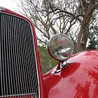 Classic Red Car, Birdwood South Australia by Catherine Clemow