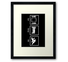 Eat, Sleep, BJJ Framed Print