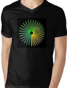 Abstract Hologram Mens V-Neck T-Shirt