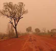 Red Centre Dust Storm by Catherine Clemow