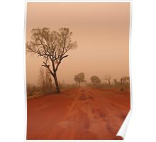 Red Centre Dust Storm Poster