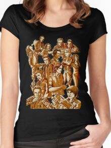SPN Heroes and villains Women's Fitted Scoop T-Shirt
