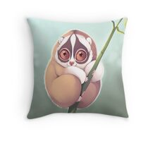 Slo Loris Throw Pillow