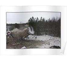demolition of a concrete factory Poster
