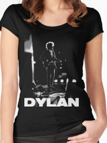dylan on black Women's Fitted Scoop T-Shirt
