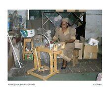Master Spinner at the Wheel, Lesotho by Lillian Trettin