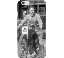 Champion Motorcycle Racer, 1922 iPhone Case/Skin