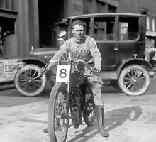 Champion Motorcycle Racer, 1922 by historyphoto