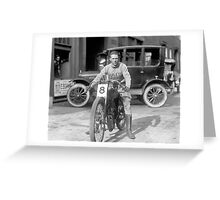 Champion Motorcycle Racer, 1922 Greeting Card