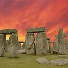 Stonehenge sunset by Peter Schneiter by Peter Schneiter