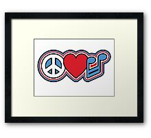 PEACE LOVE MUSIC Symbols Framed Print