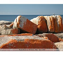 Rock Blocks Photographic Print