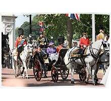Her Majesty The Queen along with Prince Phillip Poster