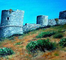 The Castle of Barbarossa - Capri by Carole Russell