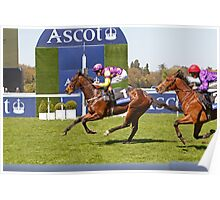 Anticipated  crossing the finish line at Ascot 1st may 2013 Poster