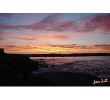 Seaside Silhouette Photographic Print