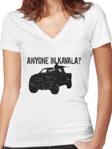ANYONE IN KAVALA - Arma 3 Women's Fitted V-Neck T-Shirt