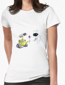 Pin Wheel Womens Fitted T-Shirt