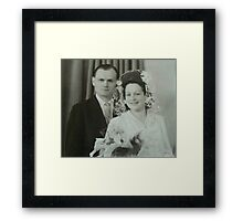 The newlyweds Framed Print