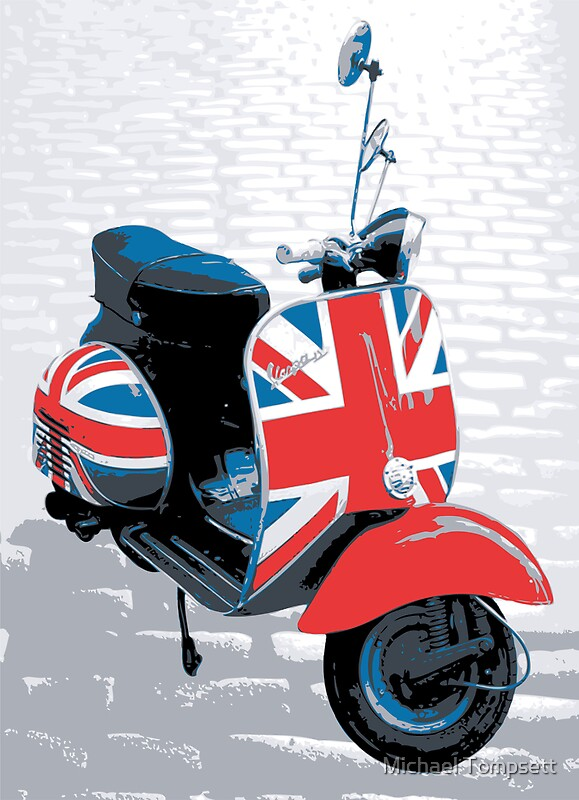 Vespa scooter mod decoration pop art print for Vespa decoration