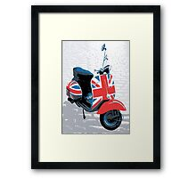 Vespa Scooter - Mod Decoration, Pop Art Print Framed Print