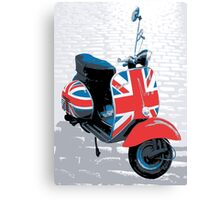 Vespa Scooter - Mod Decoration, Pop Art Print Canvas Print