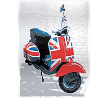 Vespa Scooter - Mod Decoration, Pop Art Print Poster