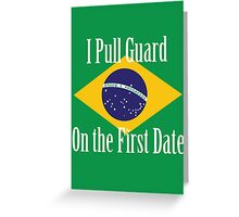 First Date BJJ (White) Greeting Card