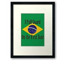 First Date BJJ (Black) Framed Print