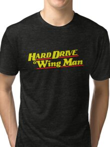 Hard Drive and Wing Man Tri-blend T-Shirt