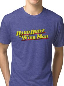 Hard Drive and Wing Man Tri-blend T-Shirt
