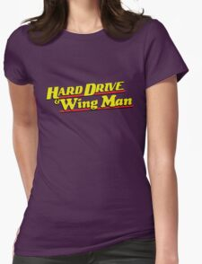 Hard Drive and Wing Man Womens Fitted T-Shirt