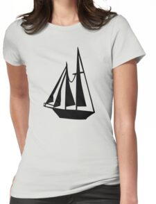 Sail boat Womens Fitted T-Shirt