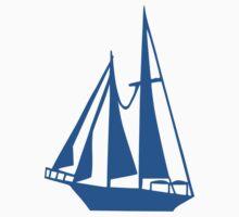 Blue sailing ship Baby Tee