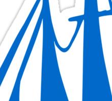 Blue sailing ship Sticker