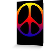 Rainbow 60s Peace Sign Symbol Greeting Card
