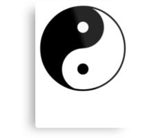 Asian Yin Yang Symbol Metal Print