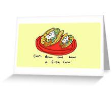 Fish Tacos Greeting Card